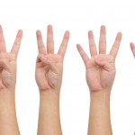 Counting hands (one to five)