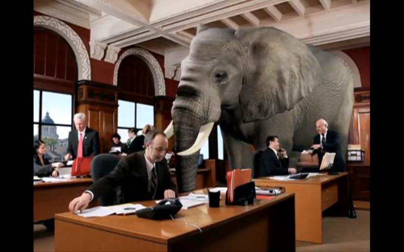 Un elefante en tu salón