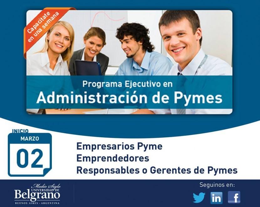 Programa ejecutivo en administración de pymes