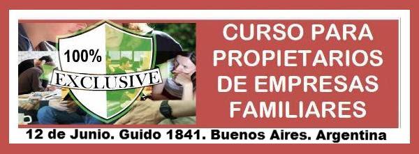 Curso para propietarios de empresas Familiares – org. Instituto Argentino de Empresas Familiares