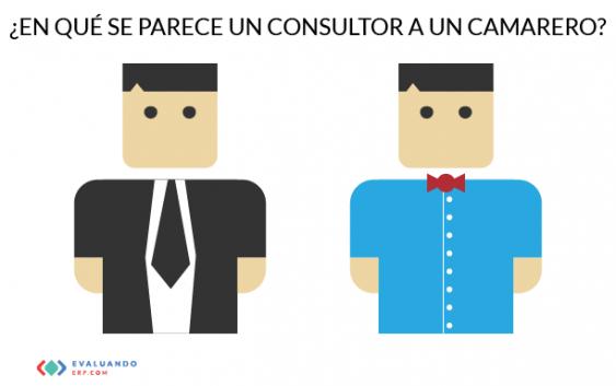 ¿En qué se parece un consultor a un camarero?