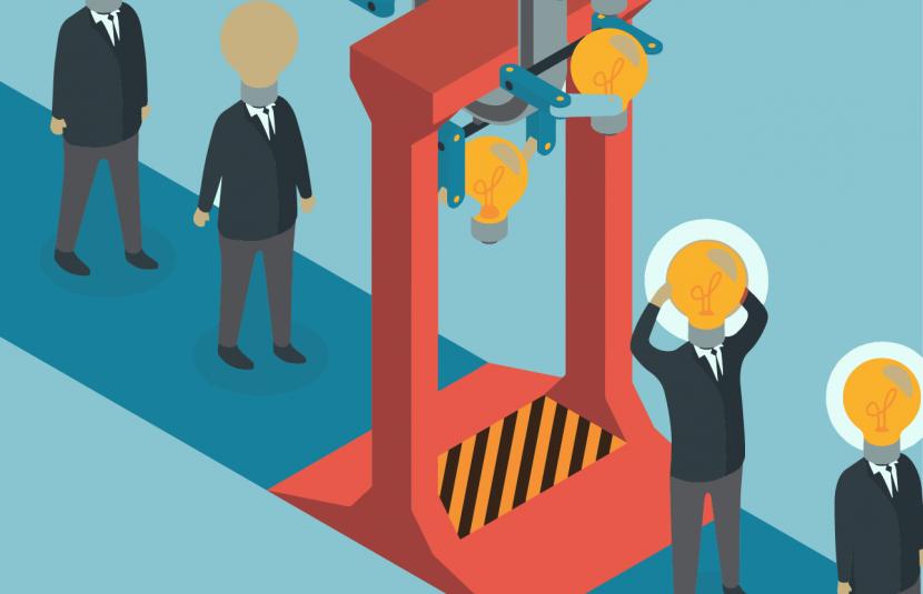 Probabilidad de disrupción en la industria: 4 estados y 4 estrategias.