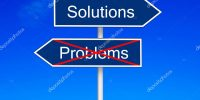 Problems vs solutions pole sign