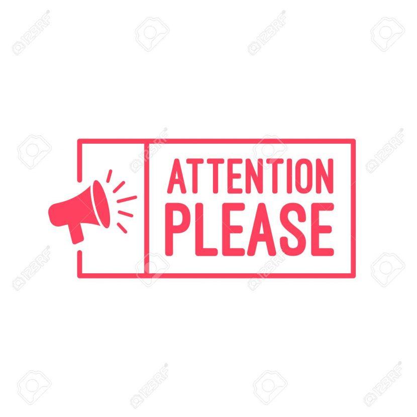 Atención, por favor