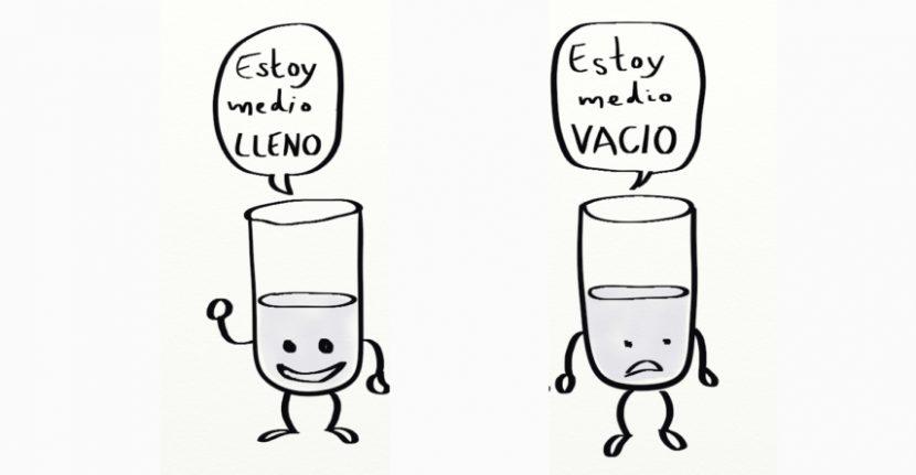 Efecto Marco: Tus decisiones dependen de si ves el vaso medio lleno o medio vacío