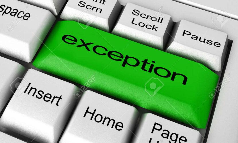 El poder de una excepción
